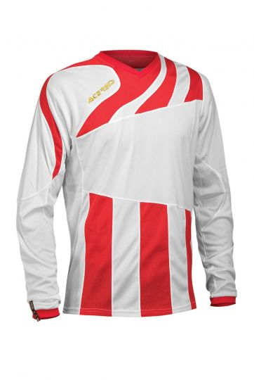MIRA JERSEY LONG SLEEVE - WHITE/RED