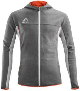 SWEATSHIRT F/ZIP HOODIE EVO GREY/ORANGE