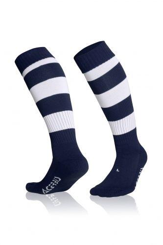 Double Striped Socks Blue/ White