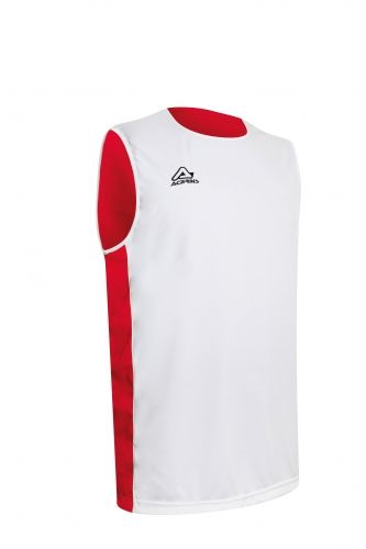 Larry Double Singlet White/ Red