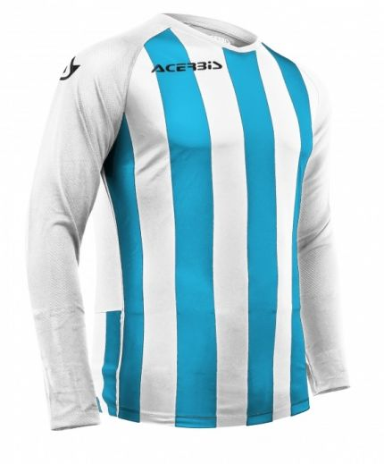Johan Jersey Long Sleeve White/Light Blue