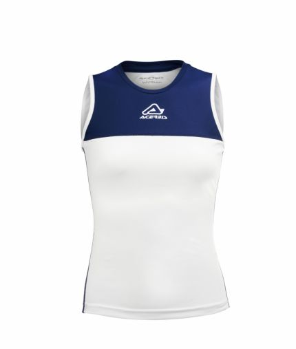 Vicky Woman Singlet White/Blue