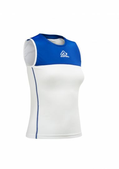 Vicky Woman Singlet White/ Royal Blue