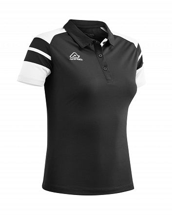 Kemari Woman Polo BLACK/WHITE