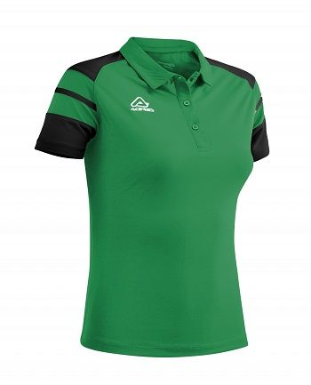 Kemari Woman Polo GREEN/BLACK