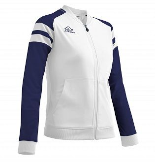 Kemari Woman Tracksuit Jacket WHITE/BLUE