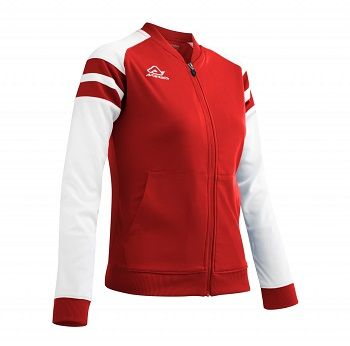 Kemari Woman Tracksuit Jacket RED/WHITE