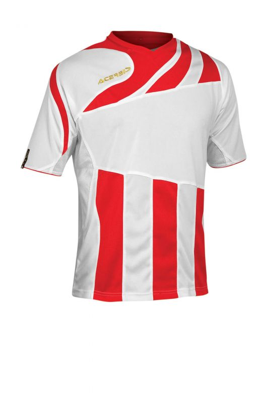 MIRA JERSEY SHORT SLEEVE - WHITE/RED