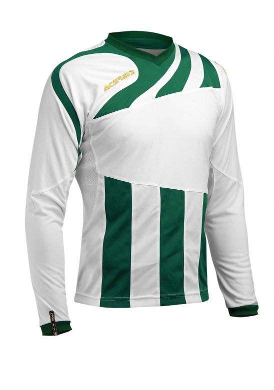MIRA JERSEY LONG SLEEVE - WHITE/GREEN