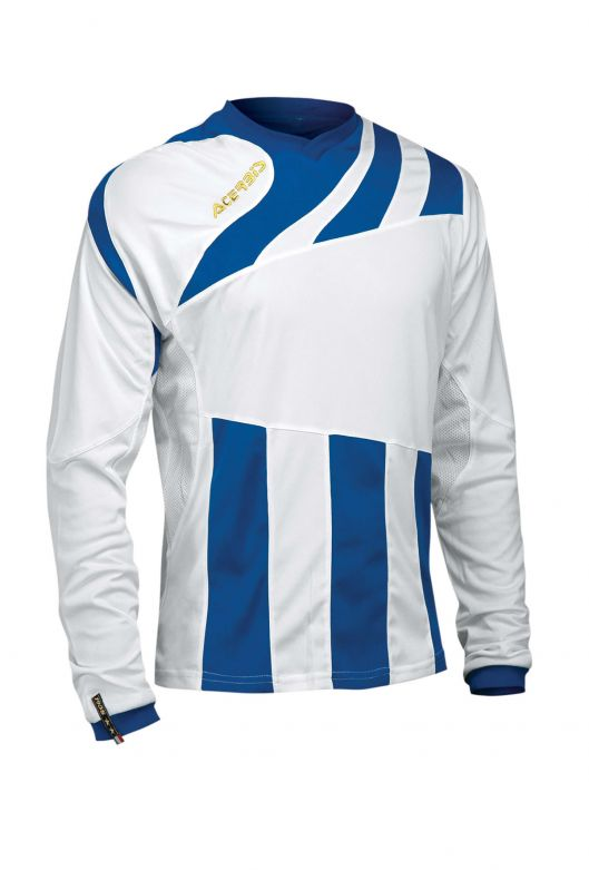 MIRA JERSEY LONG SLEEVE - WHITE/ROYAL