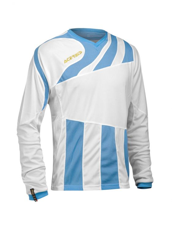 MIRA JERSEY LONG SLEEVE - WHITE/LIGHTBLUE