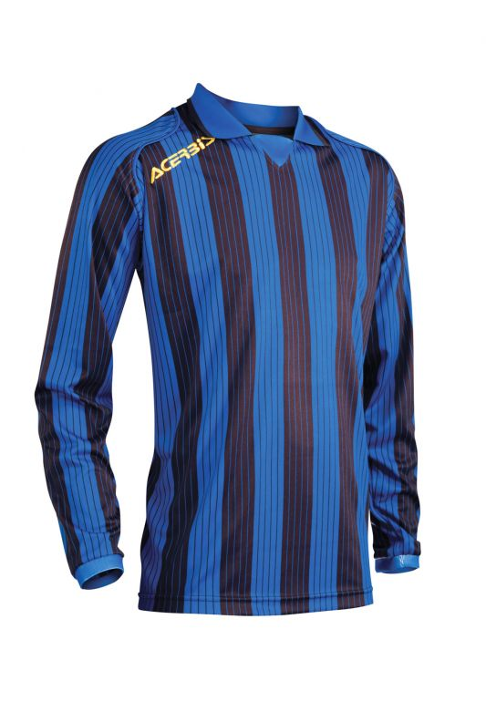 JERSEY VERTICAL LS - BLACK/BLUE