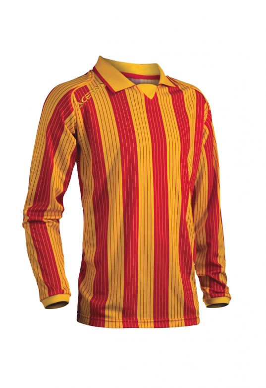 JERSEY VERTICAL LS - YELLOW/RED