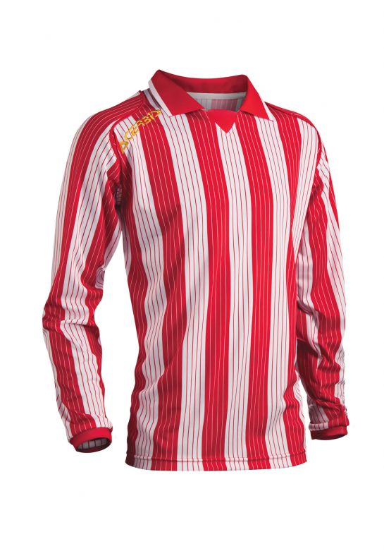 JERSEY VERTICAL LS - RED/WHITE