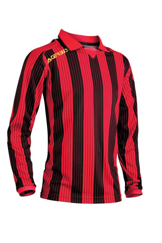 JERSEY VERTICAL LS - RED/BLACK