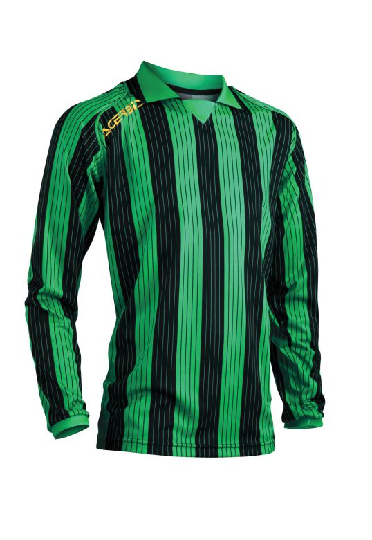 JERSEY VERTICAL LS - GREEN/BLACK
