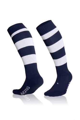 Double Striped Socks Blue/ White