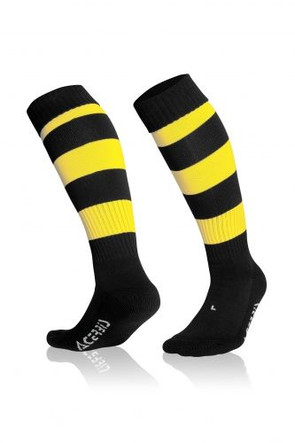 Double Striped Socks Black/ Yellow