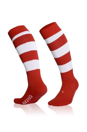 Double Striped Socks Red/ White