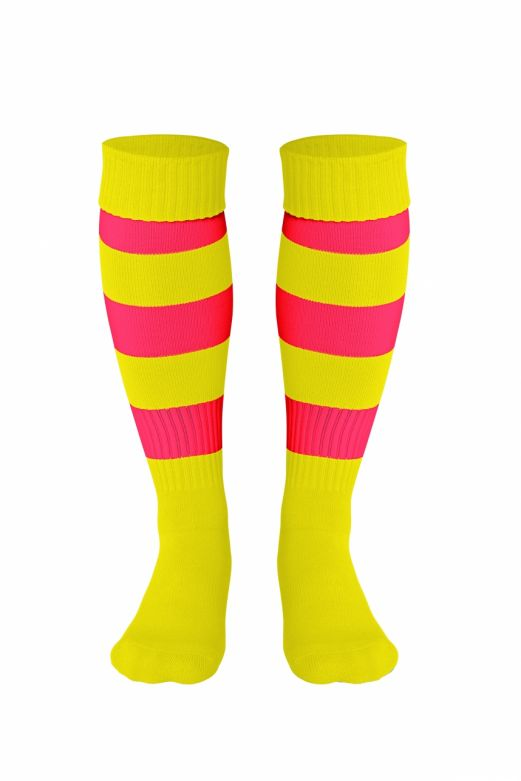 Double Striped Socks Yellow/Red