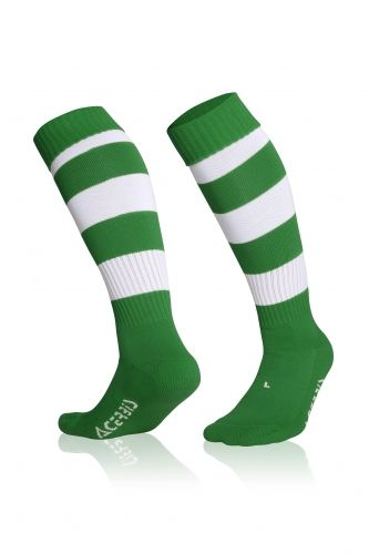 Double Striped Socks Green/ White
