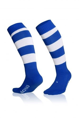 Double Striped Socks Royal/ White