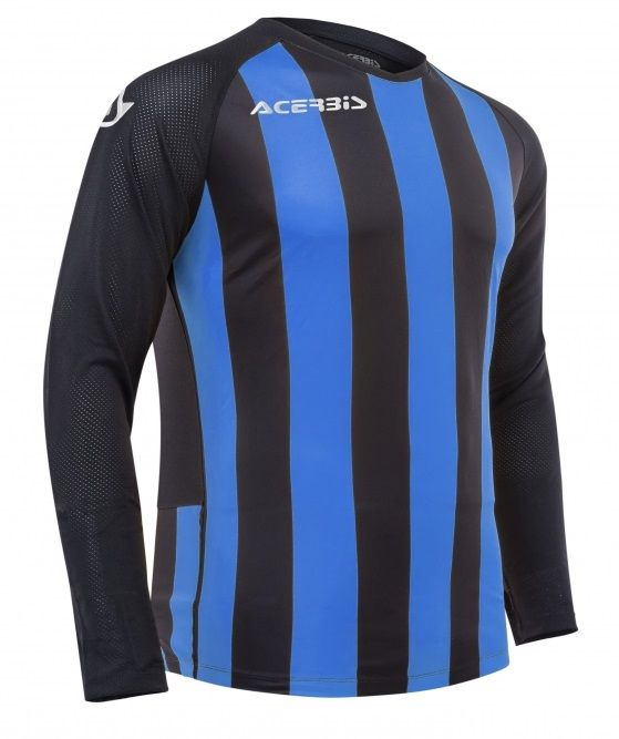 Johan Jersey Long Sleeve Black/Royal Blue