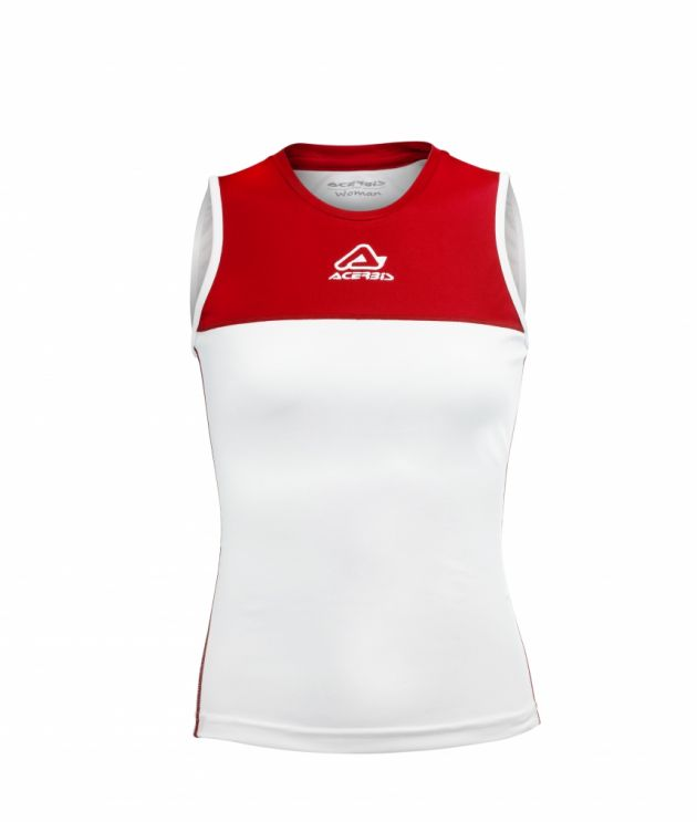 Vicky Woman Singlet White/Red