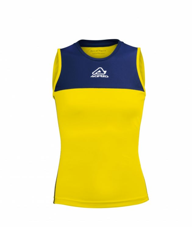 Vicky Woman Singlet Yellow/Blue