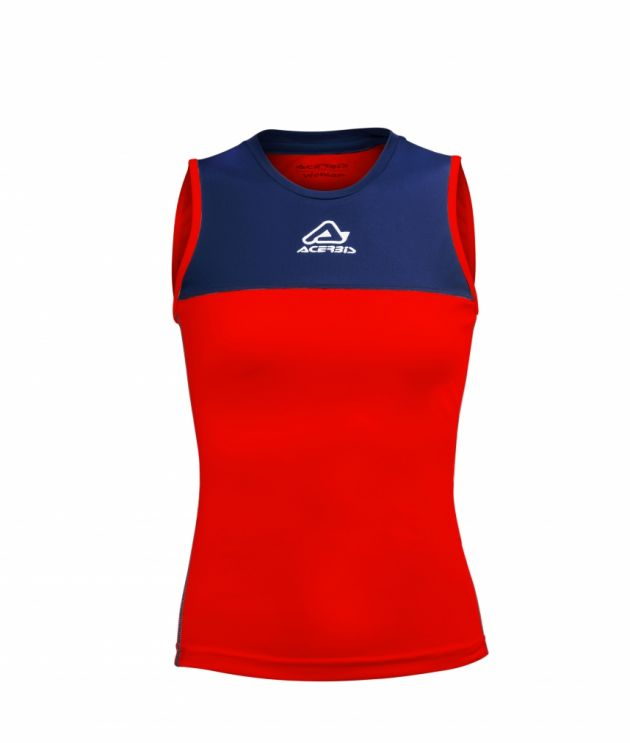 Vicky Woman Singlet Red/Blue